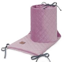 UMAZANO ROZA obroba za posteljico, VELVET (180x30 cm), MAMO-TATO