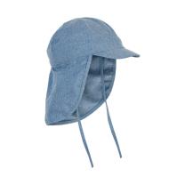Jeans moder klobuček - kapa s šiltom za dojenčka z UV zaščito (UPF 50+) 6-12 m – FADED DENIM, En Fant