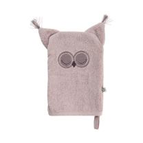 VIJOLIČNA rokavica za umivanje iz organskega bombaža SOVA Pippi®