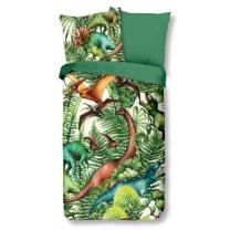Zelena otroška posteljnina DINOZAVRI 140x200/220 cm
