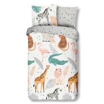 Siva otroška posteljnina ZOO 140x200/220 cm, Good Morning (7071)